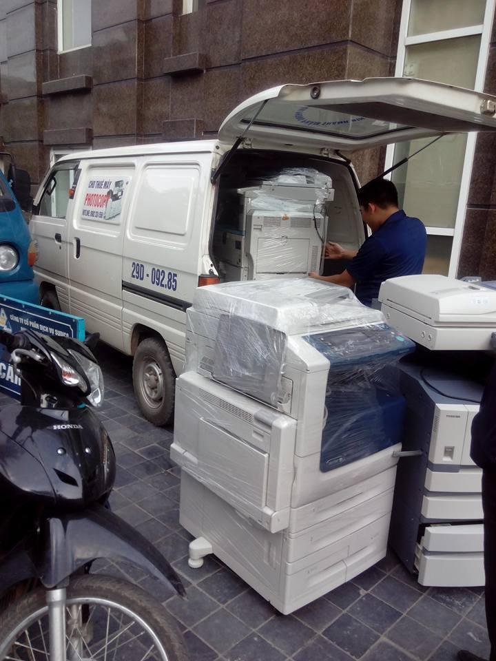 Xe vận chuyển máy photocopy đến tận nơi