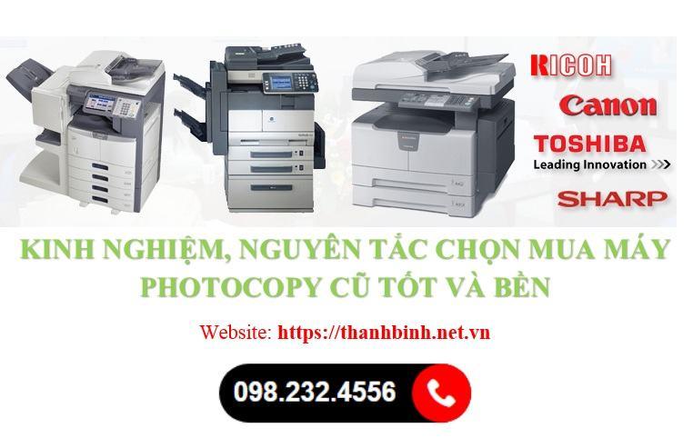 Kinh nghiệm chọn mua máy photocopy cũ
