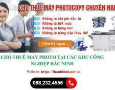 Cho thuê máy photocopy tại khu công nghiệp (KCN) Bắc Ninh